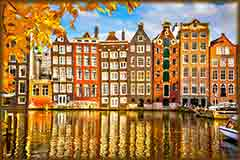 Mobile - PC Group of  Amsterdam buildings jigsaw puzzle