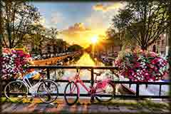 Mobile - PC Amsterdam sunrise jigsaw puzzle