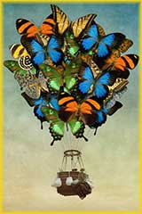 Butterfly balloon jigsaw puzzle