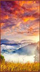 Mobile - PC Group of  Carpathian morning hills jigsaw puzzle