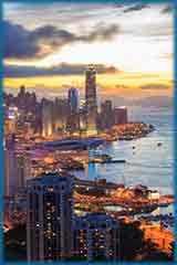 Hong Kong Sunset jigsaw puzzle