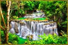 Mobile - PC Group of  Huay Mae Kamin waterfall jigsaw puzzle