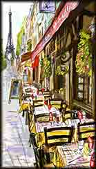 Mobile - PC Paris street jigsaw puzzle