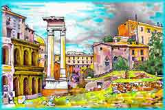 Mobile - PC Rome Italy cityscape jigsaw puzzle