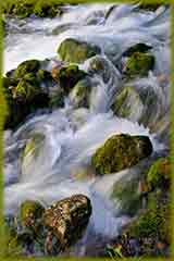 Water over rocks jigsaw puzzle