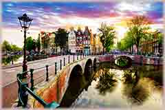 Mobile - PC amsterdam canal houses jigsaw puzzle
