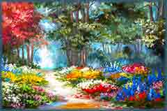 Mobile - PC colorful forest jigsaw puzzle