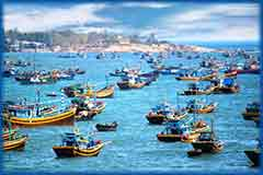 Mobile - PC fishing boats Vietnam jigsaw puzzle