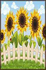 five sunflowers puzzle