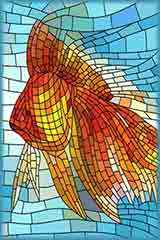 goldfish stained glass jigsaw puzzle