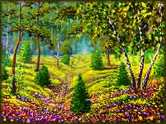 Mobile - PC impressionism meadow jigsaw puzzle