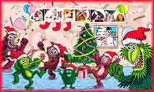 Mobile - PC monster xmas jigsaw puzzle