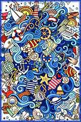 nautical doodles jigsaw puzzle
