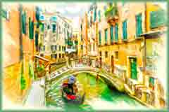 Mobile - PC oil venice canal jigsaw puzzle