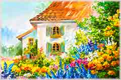 Mobile - PC painting garden home jigsaw puzzle