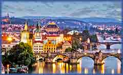 Mobile - PC Group of  prague cityscape jigsaw puzzle