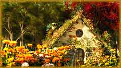 Mobile - PC summer garden cottage jigsaw puzzle
