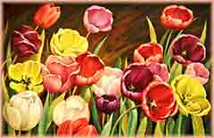Mobile - PC tulips oil painting jigsaw puzzle