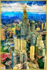 watercolor city2 jigsaw puzzle