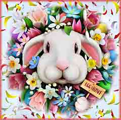 Mobile - PC wreath Bunny jigsaw puzzle